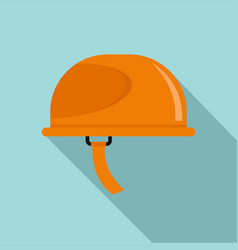 hiking helmet icon flat style vector image