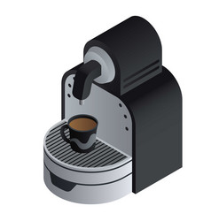 home coffee maker icon isometric style vector image