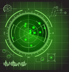 Hud futuristic technology green display element vector