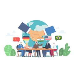 International negotiations diplomacy political vector
