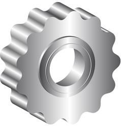 Isolated metal sprocket vector