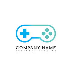 Joystick game brand company template logo vector