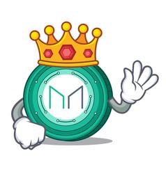 King maker coin mascot cartoon vector