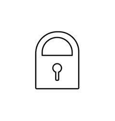 Locker icon vector