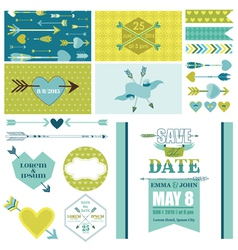 Love Heart and Arrows Party Set - for Party vector image