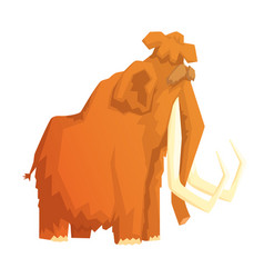 Mammoth mammal ice age extinct animal colorful vector