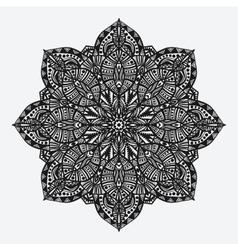 Mandala circular geometric monochrome pattern vector