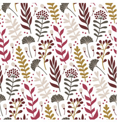 Modern seamless pattern with leaves and floral vector