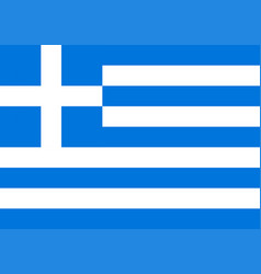 national flag of greece colorful bright vector image