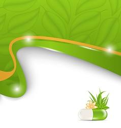 Natural alternative medication medical background vector image
