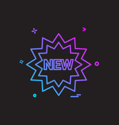 new tag icon design vector image