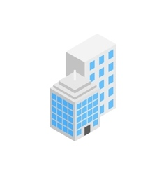 Office building icon isometric 3d style vector