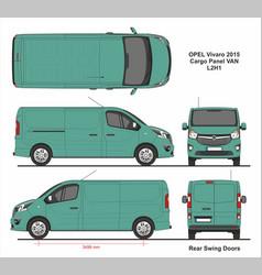 Opel vivaro cargo panel van l2h1 2015 vector