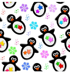 penguin pattern vector image