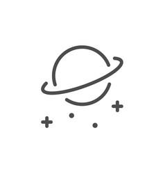 Planet line icon vector