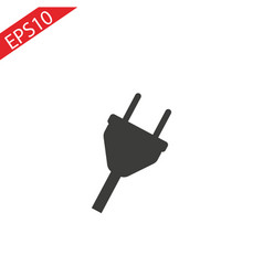 plug icon uk electric plug icon vector image