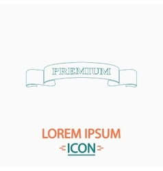 Premium ribbon computer symbol vector image