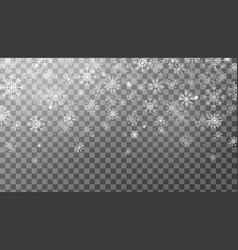 Realistic falling snowflakes isolated on vector