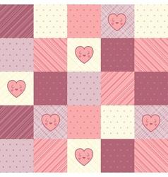 retro background vintage design with hearts vector image