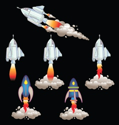 Rockets that every child can love vector image