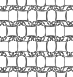 Slim gray horizontal interlocking ornament vector