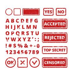 stamp concepts grunge letters in frames vector image