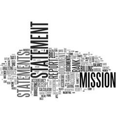 Statement word cloud concept vector