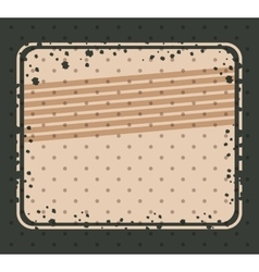 Striped and grunge retro frame design vector