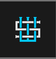 Sw letter initial logo design simple minimalist vector