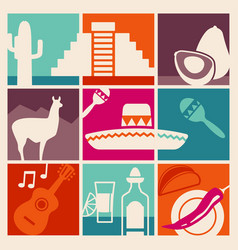 Symbols mexico vector