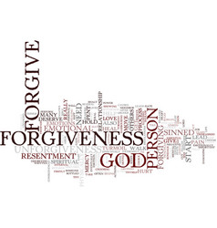 the power of forgiveness text background word vector image