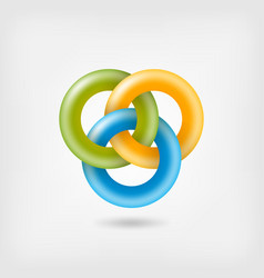 three jelly interlocking rings vector image