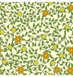 vintage seamless pattern weaving flowers vector image