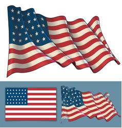 Waving union flag 1861-1863 vector