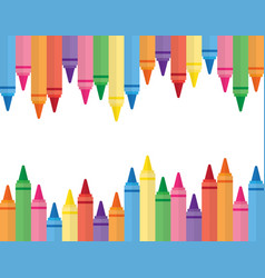 Wax colorful crayons vector