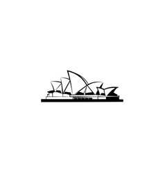 world attractions opera house in sydney vector image