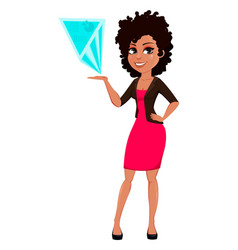young african american business woman vector image