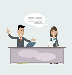business people conference vector image