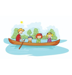 cartoon family background vector image vector image