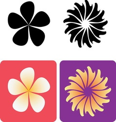 Decorative flowers 2 vector image vector image