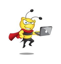 Super Bee Laptop vector image vector image
