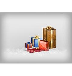 christmass gift grey vector image vector image