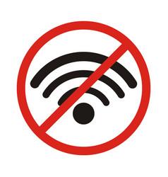 No signal sign no signal area no wi fi area vector