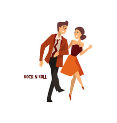 professional dancer couple dancing rock and roll vector image vector image