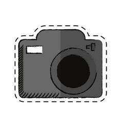 cartoon photo camera picture image shadow vector image
