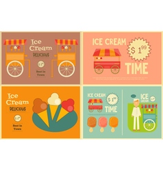 Ice Cream Cards Set vector image vector image