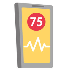 phone app for heart rate measuring cartoon vector image
