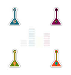 set of color label design collection of musical vector image vector image
