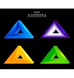 Triangular logo set vector image vector image