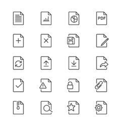 Document thin icons vector image vector image